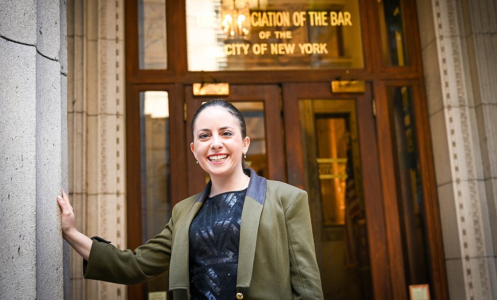 Leona Krasner, a matrimonial attorney in New York City, was photographed in September on the day she joined the City Bar Association. Photo by David Handschuh/NYLJ