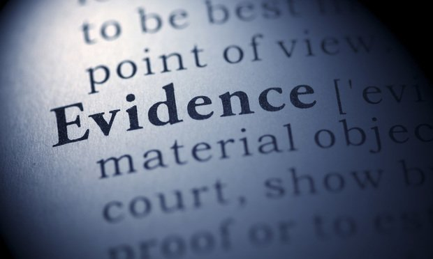 Evidence entry in dictionary