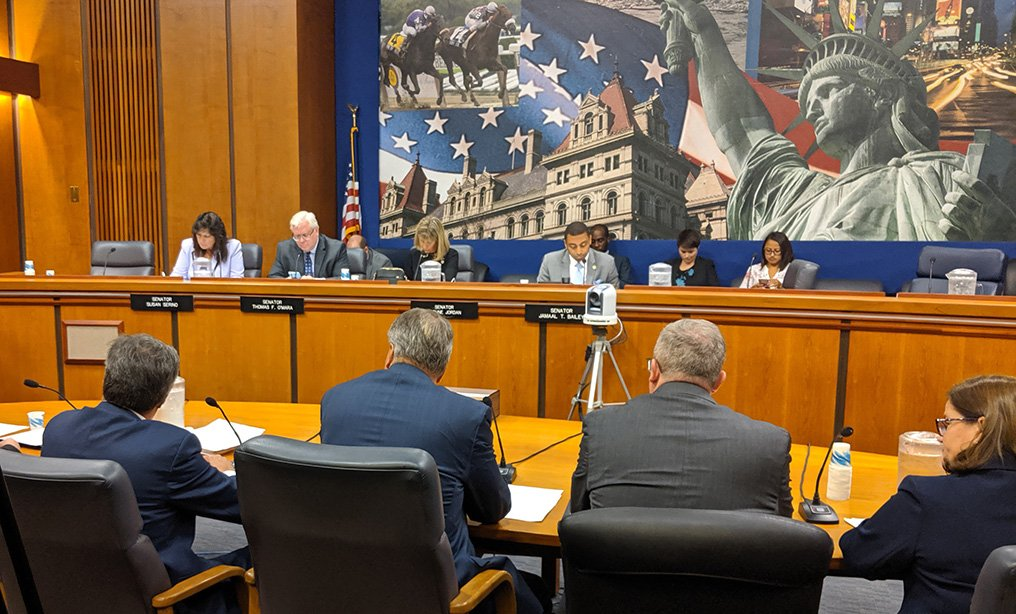 State lawmakers hear testimony in Albany on implementation of the new criminal discovery laws on Monday, Oct. 28. Photo: Dan M. Clark/NYLJ