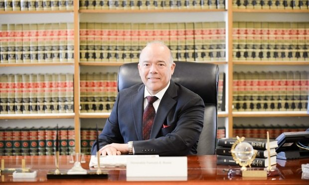 Justice Francois Rivera in his chambers at Brooklyn Supreme Court. Photo by David Handschuh/NYLJ