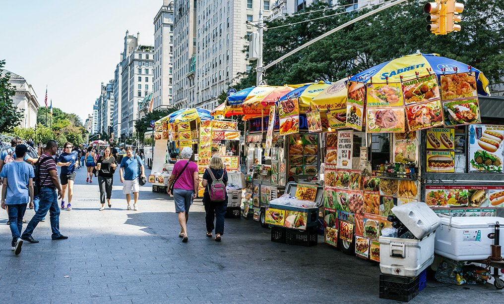 Food vendors in front of the Metropolitan Museum of Art. Photo: Michele Vacchiano via Shutterstock