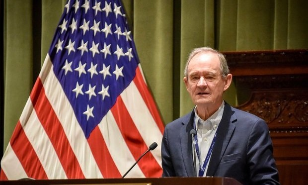 "Keynote speaker David Boies, of Boies Schiller Flexner LLP delivers the keynote address on ""Protecting the Rule of Law""at the Seventh Annual Securities Litigation and Enforcement Institute held Wednesday, January 23, 2019 at the New York City Bar....(Photo by David Handschuh/NYLJ)"