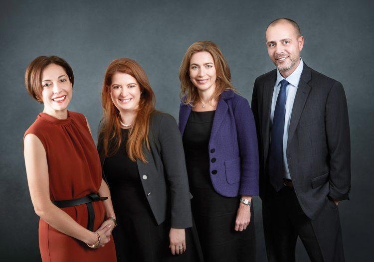 Valentina Shaknes, Heidi Tallentire, Caroline Krauss and Jordan Messeri. (Photo: Steve Hellerstein, Red Productions)