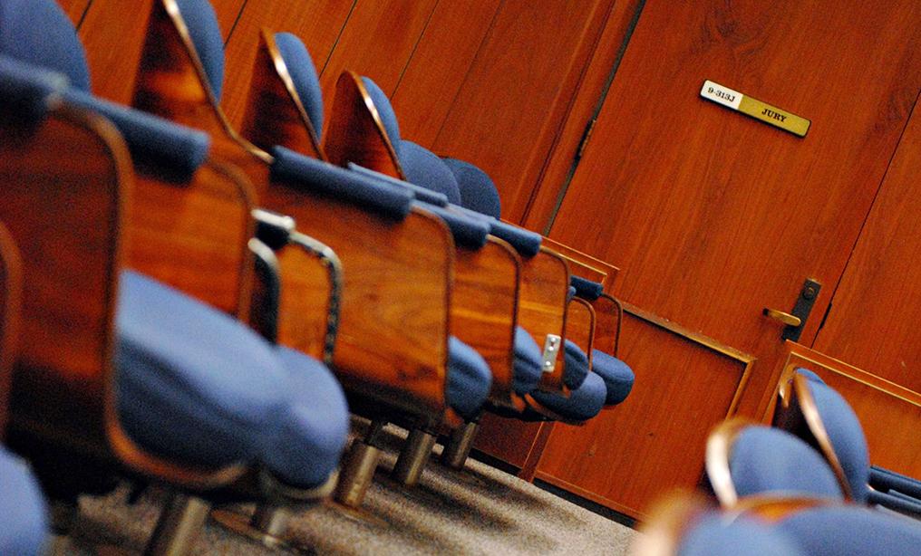 Jury box. Photo: Jamie Rector/Bloomberg News