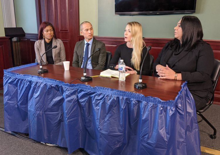 Attorneys and advocates respond to concerns from prosecutors over the state's new criminal justice laws in Albany Thursday. Photo: Dan M. Clark