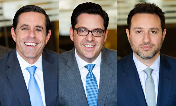 Kenneth Abell, David Eskew and Scott Landau, partners at Abell Eskew Landau. COURTESY PHOTO