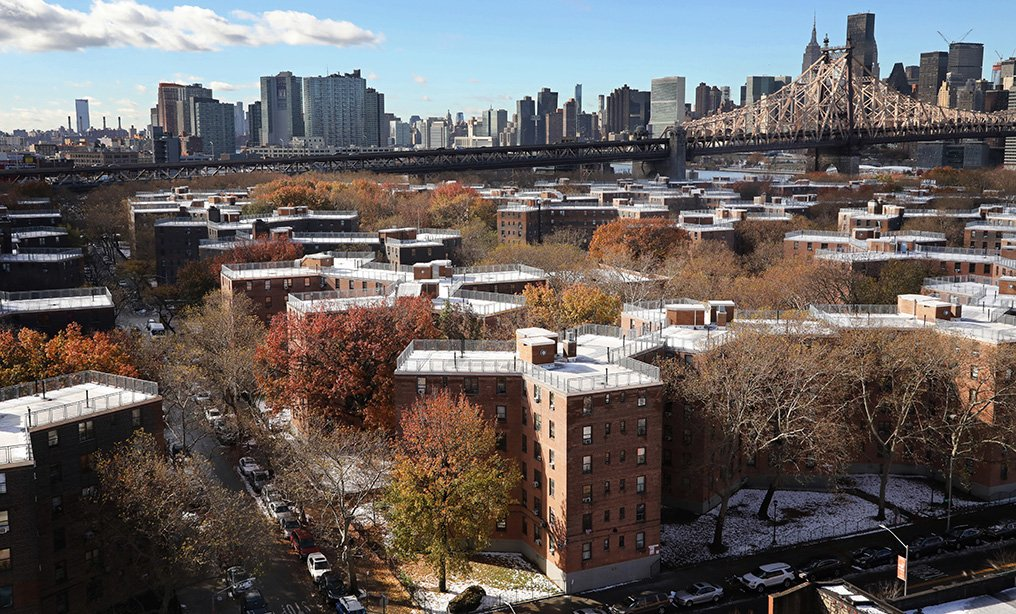 New York City Housing Authority has come under sharp criticism for the conditions of its public housing, such as the Queensbridge Houses above. Photo: Mark Lennihan/AP