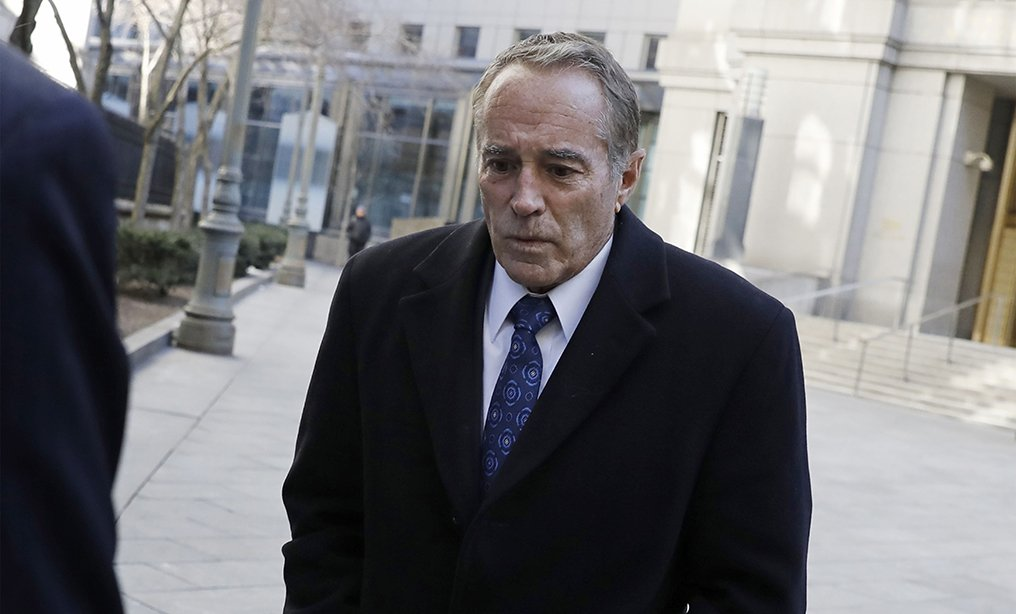 Representative Chris Collins arrives at the Southern District courthouse in New York on Friday, Jan. 17. Photo: Peter Foley/Bloomberg