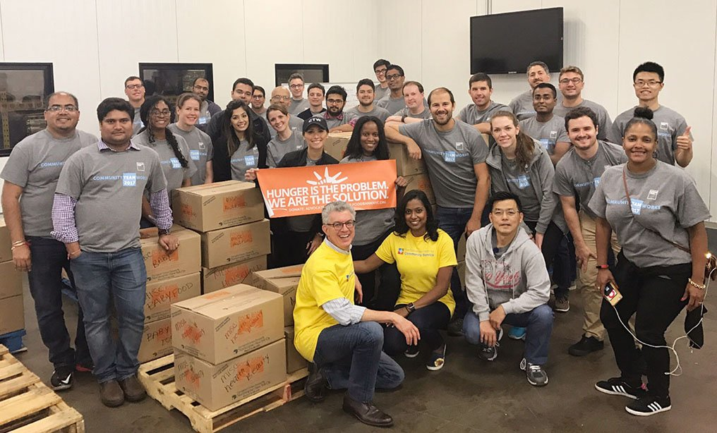 Cadwalader Wickersham & Taft and Goldman Sachs personnel together for the Justice Served campaign in 2017. Courtesy photo