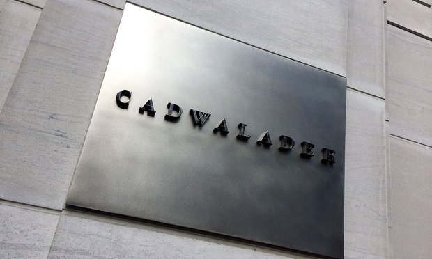 Cadwalader offices in Washington, D.C. (Photo: Diego M. Radzinschi/ALM)