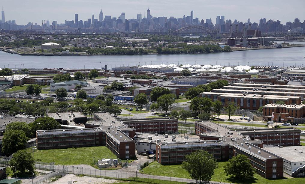 Rikers Island jail complex in New York City. Photo: Seth Wenig/AP