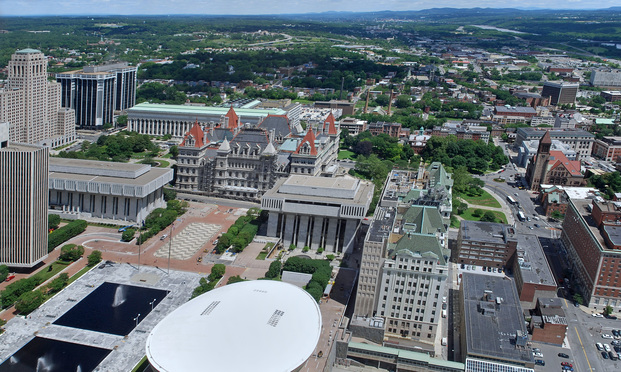 New York State capitol complex in Albany