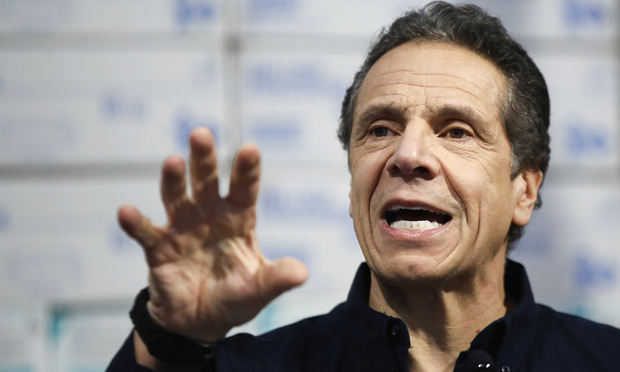 March 24, 2020. New York Gov. Andrew Cuomo speaks during a news conference at the Jacob Javits Center in New York. (AP Photo/John Minchillo, File)