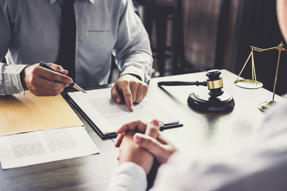 contract review gavel