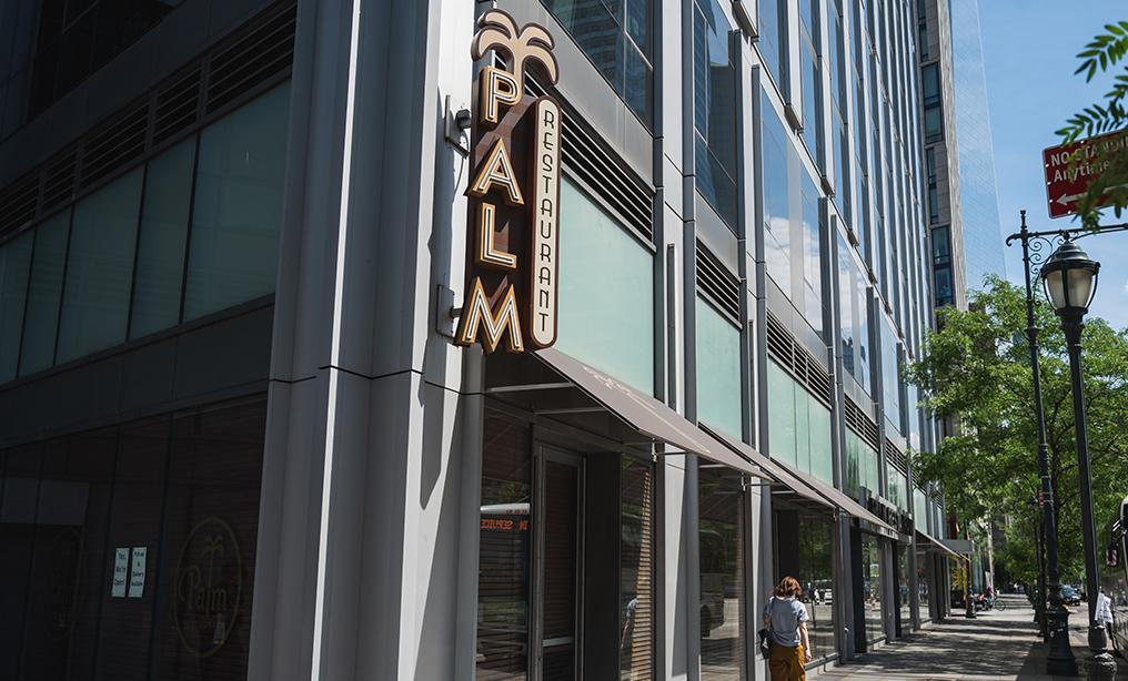 Palm Restaurant in lower Manhattan. Photo: Ryland West/ALM