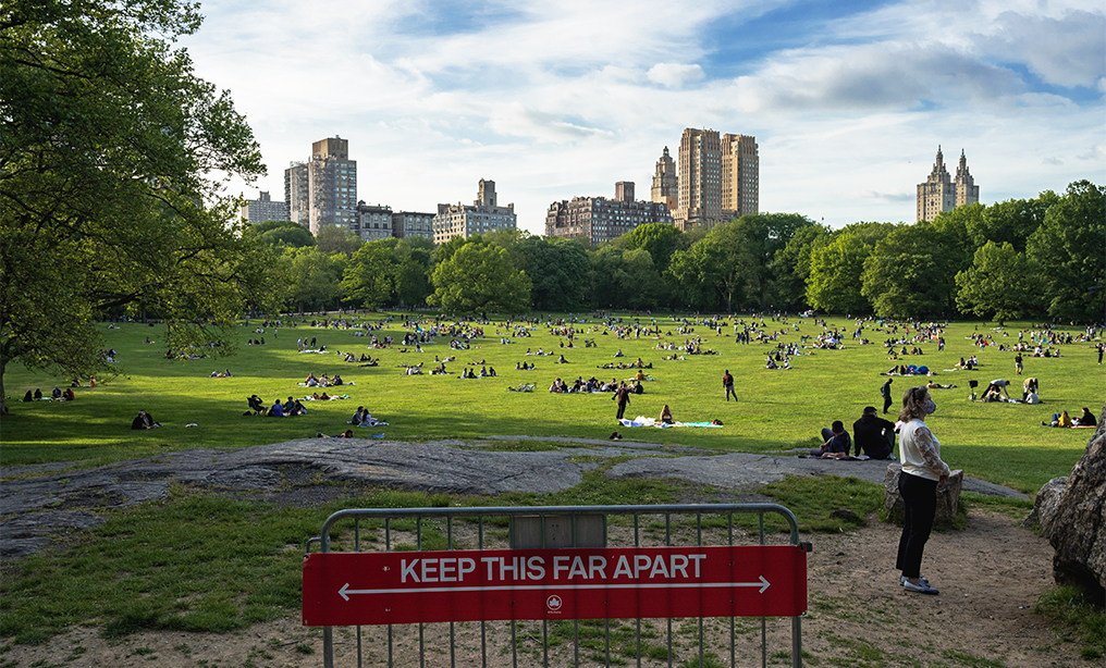 Central Park during Memorial Day Weekend, after the state's shelter in place order expired. Photo: Ryland West/ALM