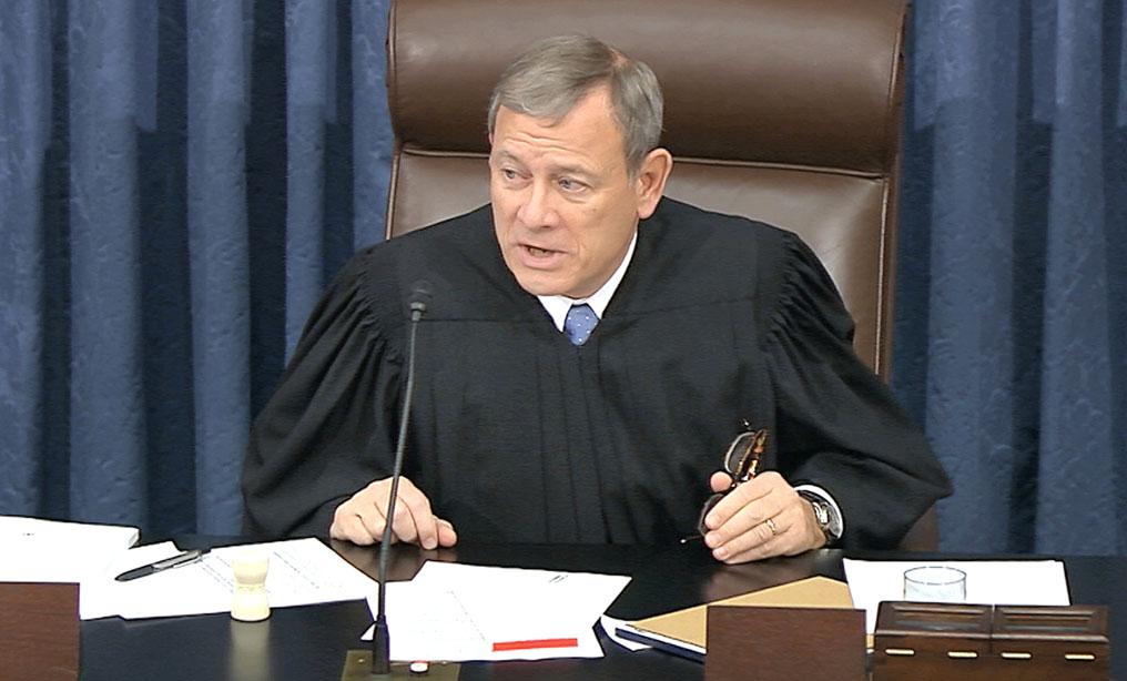 U.S. Supreme Court Chief Justice John Roberts. (Senate Television via AP)
