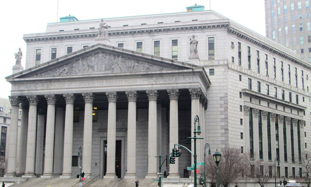 The New York State Supreme Court courthouse at 60 Centre Street on Foley Square in the Civic Center district of Manhattan, New York City.