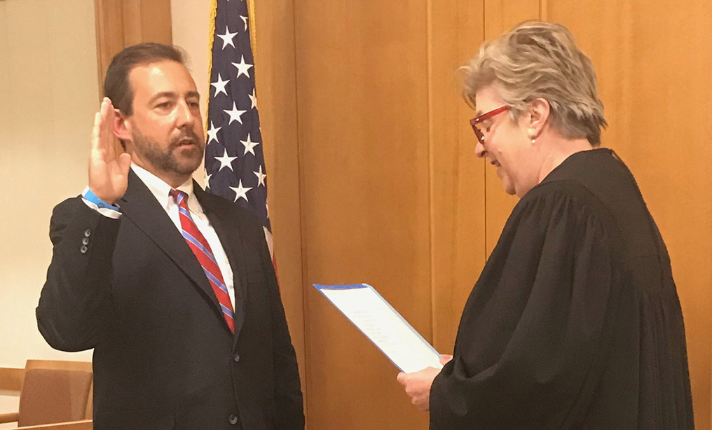 Seth D. DuCharme was sworn in as the Acting U.S. Attorney for the Eastern District of New York on Friday, July 10, at the Brooklyn federal courthouse by U.S. Chief District Judge Roslynn R. Mauskopf. Photo: U.S. Attorney's Office for the Eastern District of New York