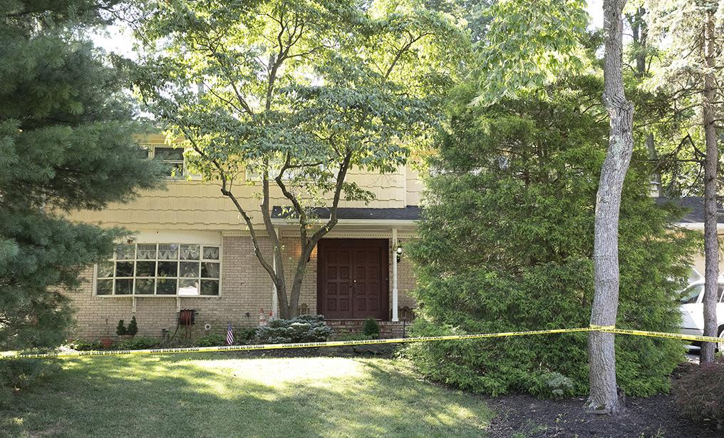 Crime scene tape surrounds the home of U.S. District Judge Esther Salas on July 20, in North Brunswick, N.J. Photo: Mark Lennihan/AP
