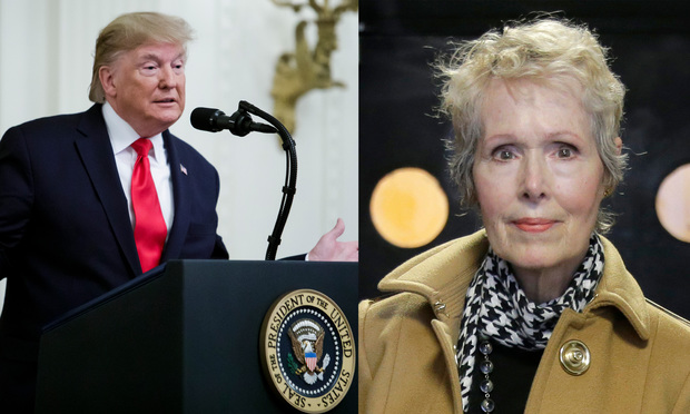 Donald Trump and E. Jean Carroll