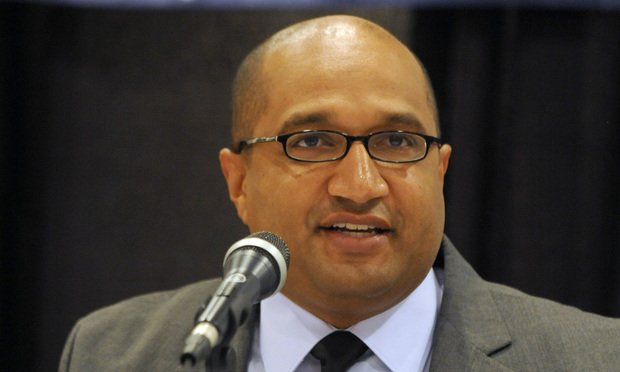 Albany County District Attorney David Soares speaks at a debate in Colonie, N.Y., on Wednesday, Sept. 5, 2012. (Photo by Tim Roske)