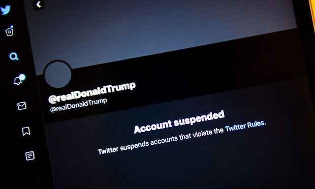 President Donald Trump's Twitter account is permanently suspended on January 8, 2021. Photo: Diego M. Radzinschi/ALM