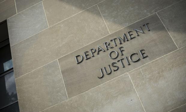 U.S. Department of Justice building in Washington, D.C./Photo: Diego M. Radzinschi/ALM