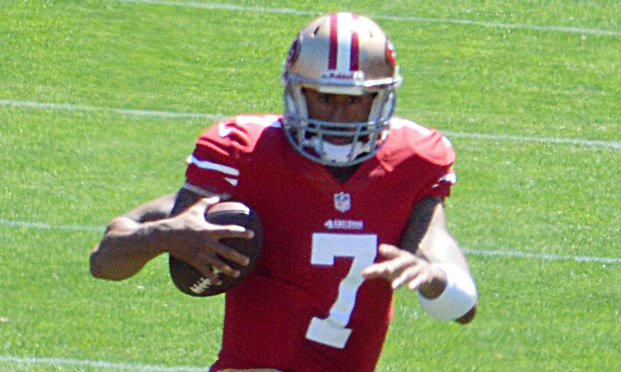 Colin Kaepernick/photo by Daniel W. Hartwig/Wikimedia Commons