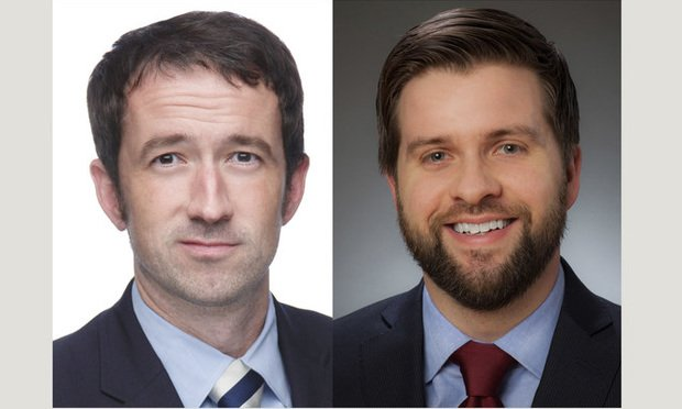 Finn Pressly, a shareholder with Littler Mendelson, left, and Nick Welle, counsel with Foley & Lardner. Courtesy photos.