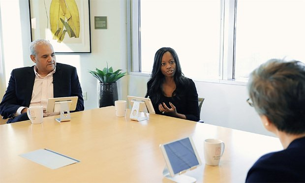 Neal Suggs, deputy general counsel of Microsoft, left, Dominique Shelton Leipzig, center, and Judy Jennison, right, both with Perkins Coie. (Courtesy photo)