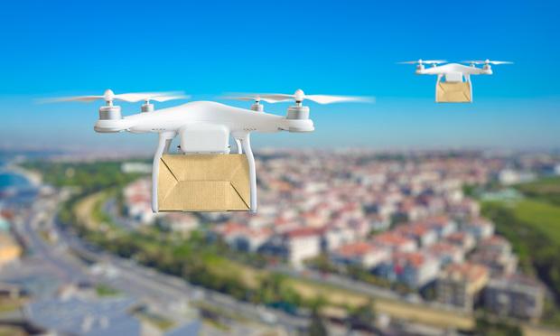 Drone delivery. Credit: IgorZh/Shutterstock.com.