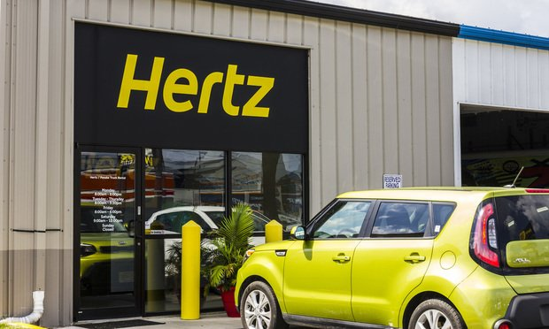 Hertz car rental location.