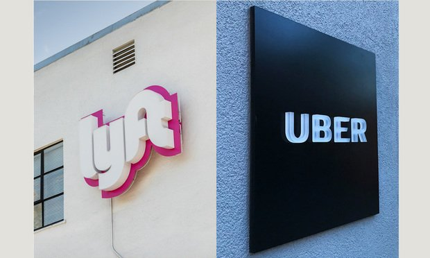 Lyft and Uber/photos by Jason Doiy and Diego M. Radzinschi/ALM
