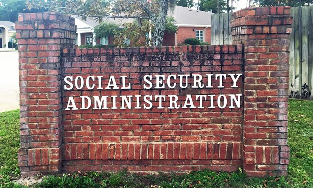 Sign for a local Social Security office