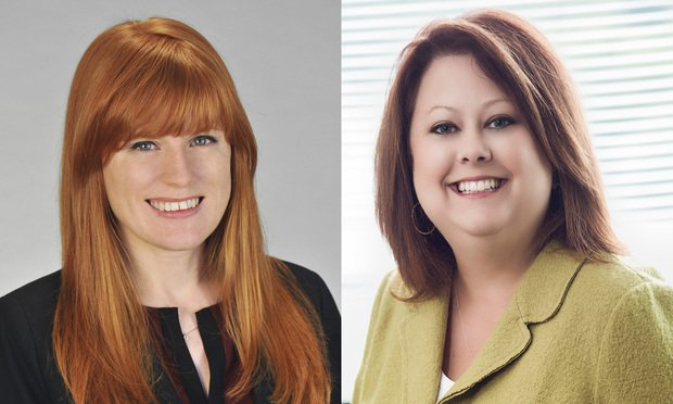 Bailey Bifoss, an associate with Fisher & Phillips, left, and Kimberly Seten, a partner with Constangy, right. Courtesy photos.