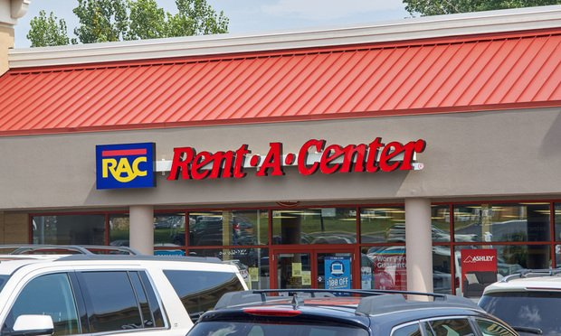 Rent-A-Center store and logo.
