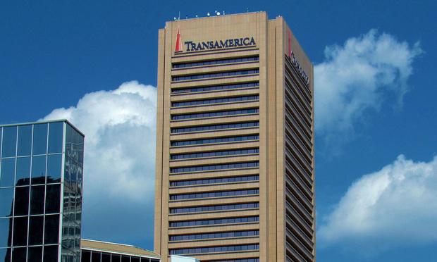Corporate headquarters of Transamerica Corp.