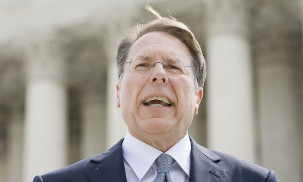 Wayne LaPierre, executive vice president and chief executive officer of the National Rifle Association of America. Photo by Diego M. Radzinschi/THE NATIONAL LAW JOURNAL.