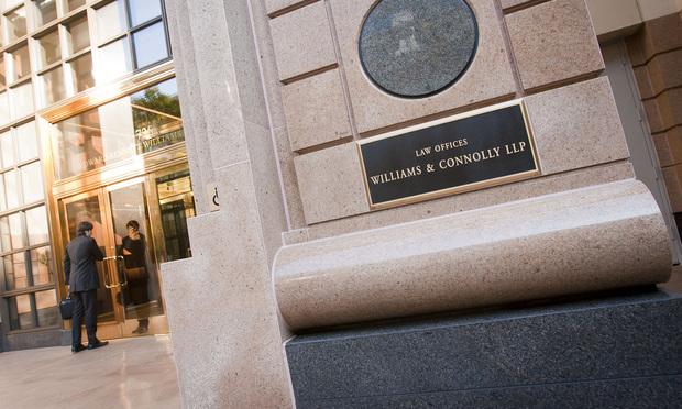 Williams & Connolly offices/Photo: Diego M. Radzinschi/NLJ.