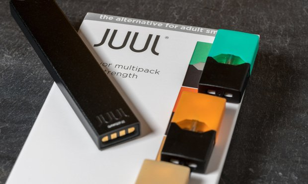 Juul e-cigarette. Photo by Steve Heap/Shutterstock.com.