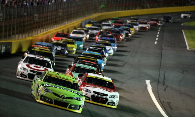 NASCAR Sprint Cup Series Bank of America 500 at Charlotte Motor Speedway on Oct. 11, 2014. Photo by Chris Graythen/NASCAR via Getty Images