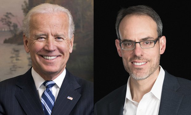 Former Vice President Joe Biden (left) and David Zapolsky. (Courtesy photos)