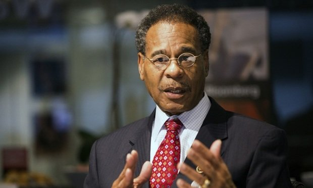 Rep. Emanuel Cleaver, a Democrat from Missouri, speaks during an interview in Washington, D.C., on March 25, 2015. Republicans blocking the confirmation of U.S. attorney general nominee Loretta Lynch risk playing into a theme that their opposition to President Barack Obama is based on race, Cleaver said. (Photo: David Banks/Bloomberg)