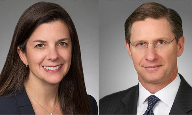 Melissa J. Schwartz and Wynn H. Segall of Akin Gump/courtesy photos