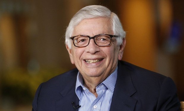 David Stern, commissioner emeritus of the National Basketball Association (NBA), smiles during a Bloomberg Television interview at the annual Milken Institute Global Conference in Beverly Hills, California, U.S., on Tuesday, May 3, 2016. The conference gathers attendees to explore solutions to today's most pressing challenges in financial markets, industry sectors, health, government and education. Photographer: Patrick T. Fallon/Bloomberg *** Local Caption *** David Stern