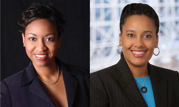 Laurie N. Robinson Haden(left) senior vice president & assistant general counsel with CBS Corporation and .founder and CEO of Corporate Counsel Women of Color and Lillian S. Hardy(right) partner with Hogan Lovells.