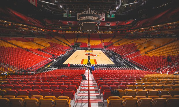 American Airline Arena after a Miami Heat basketball game.
