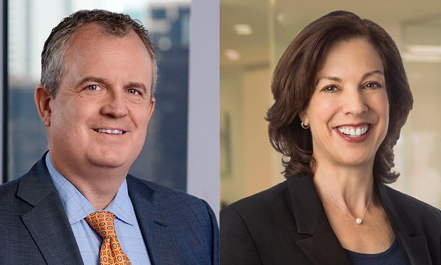 Matt Jacobson, M&A partner, co-head telecom at Ropes & Gray, and Doreen Edelman, partner and chairwoman, global trade at Lowenstein Sandler. (Courtesy Photo)
