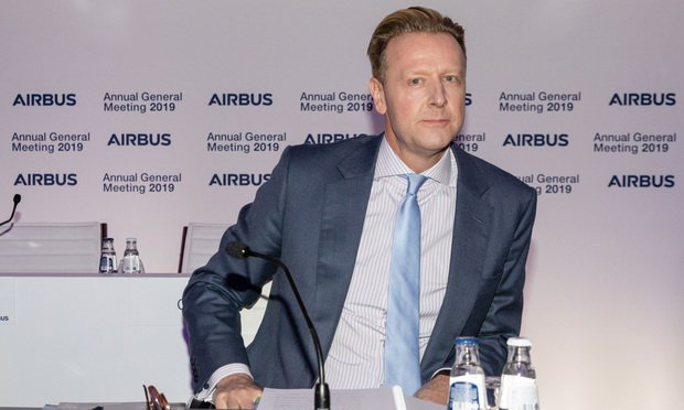 Airbus Annual General Meeting of Shareholders on April 10, 2019, in Amsterdam, Netherlands. John Harrison.